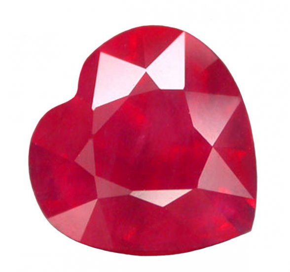 1.99 ct. Ruby, Intense Pinkish Red, Heart Faceted Natural Gemstone