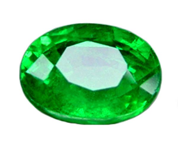 SOLD 1.25 ct. Tsavorite Garnet, Chrome Green, Oval Faceted Natural Gemstone