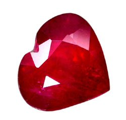 sold 2.19 ct. Ruby, Rich Glowing Red, Heart Shaped Natural Gemstone