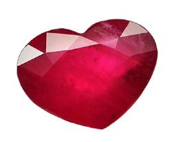 2.93 ct. Ruby, Pinkish Red, Heart Shaped Natural Gemstone