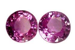0.61 ct. Sapphire, Rich Royal Pink, VVS, Round Faceted Natural Gemstones, Ceylon