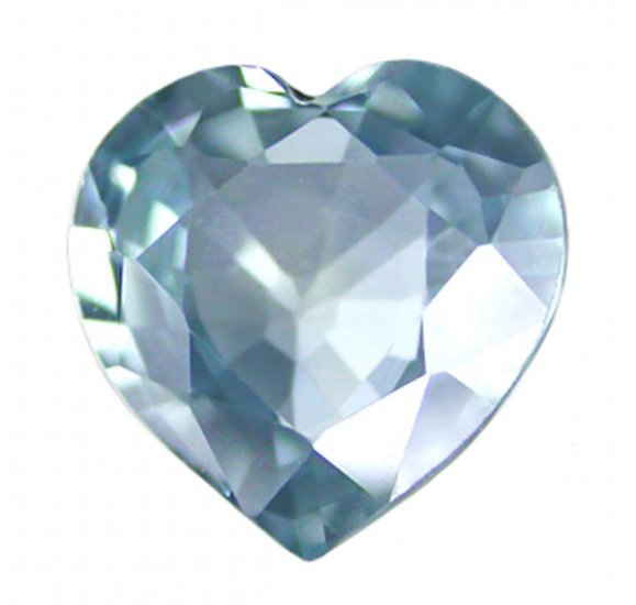 0.54 ct. Sapphire, VVS, Greenish Blue, Heart Shaped Faceted Natural Gemstone, Ceylon