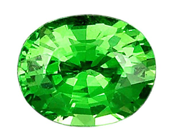 sold 0.42 ct. Tsavorite Garnet, IF, Intense Green, Oval Faceted Untreated Natural Gemstone