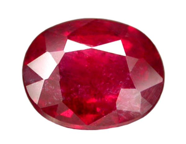 1.52 ct. Ruby, Glowing Blood Red, Oval Faceted Natural Gemstone