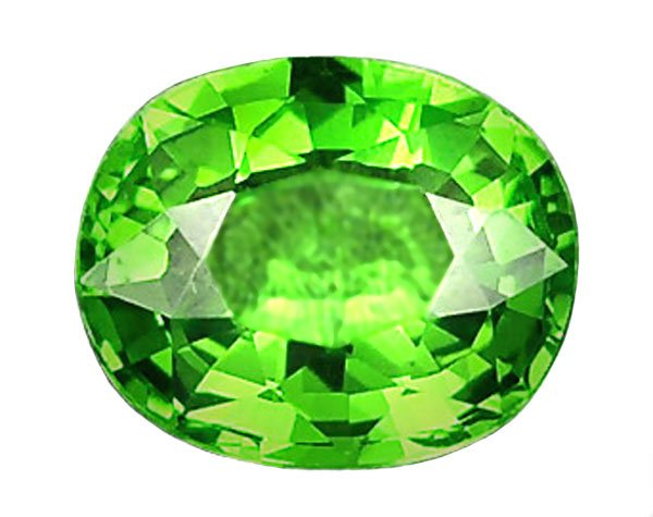 0.60 ct. Tsavorite Garnet, IF Intense Green, Cushion Faceted
