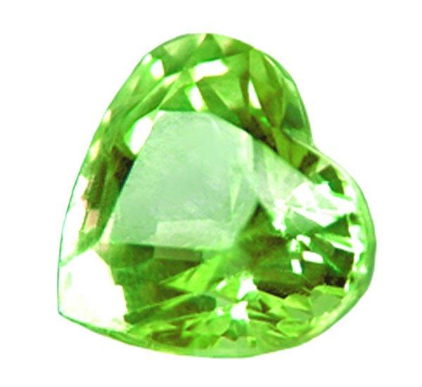 1.41 ct. Tsavorite Garnet, Electric Green, Heart Shaped/Faceted Natural Untreated Gemstone