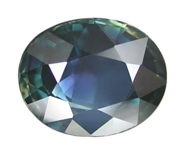 2.45 ct. Sapphire, VVS, Peacock Blue/Green, Oval Faceted Natural Gemstone, Ceylon
