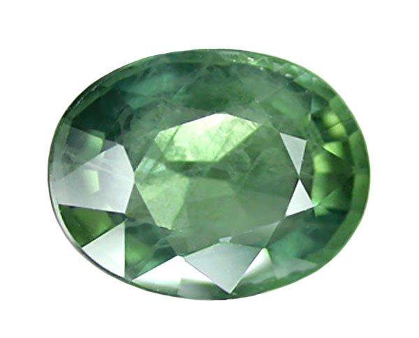 2.31 ct. Sapphire, Bluish Green, Oval Faceted Gemstone, Ceylon