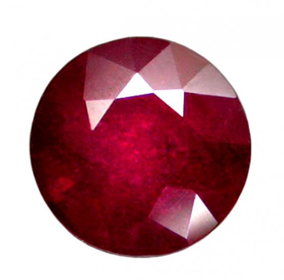 1.80 ct. Ruby, Glowing Rich Red, Round Faceted Natural Gemstone