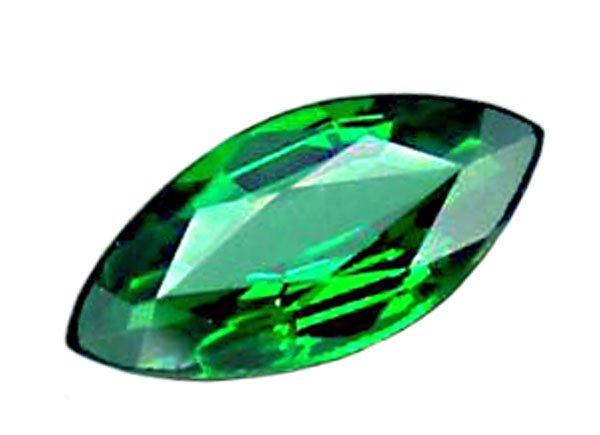 0.68 ct. Tsavorite Garnet, VVS, Top Chrome Green, Marquise Faceted Natural Gemstone