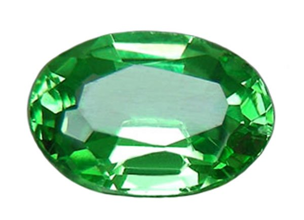 0.95 ct. Tsavorite Garnet. 7x5, IF, Electric Chrome Green,
