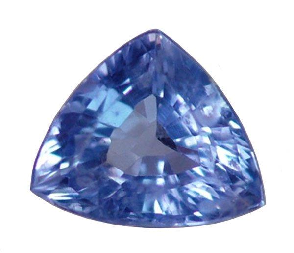0.70 ct. Tanzanite, Bluish Violet, Trillion/Trilliant Faceted Natural Gemstone