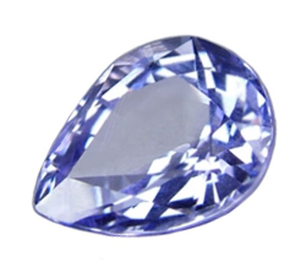 1.58 ct. Tanzanite, VVS1, Blue Purple, Pear (Tear Drop) Faceted
