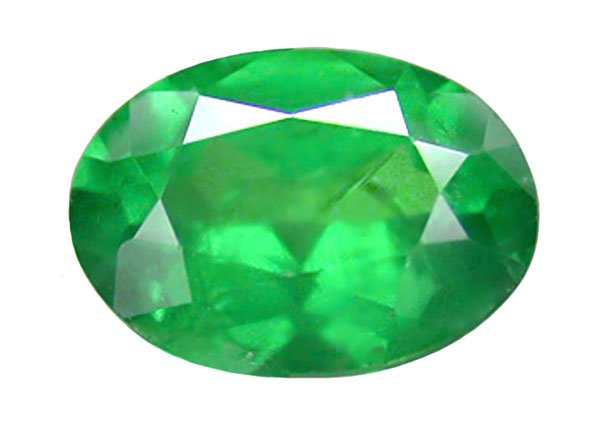 sold 0.61 ct. Tsavorite Garnet, Intense Electric Green, Oval Faceted Natural Gemstone