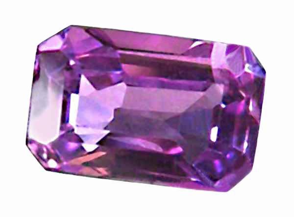 0.53 ct. Sapphire, VVS, Violet/Purple, Emerald Faceted Natural Gemstone, Ceylon