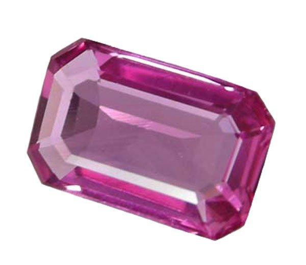 SOLD 0.56 ct. Sapphire, Intense Rich Royal Pink, VVS Emerald Facet Gem, Ceylon