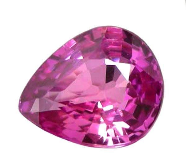 0.47 ct. Sapphire, Rich Royal Pink, VVS, Pear (Tear Drop) Faceted Natural Unheated Gemstone, Ceylon