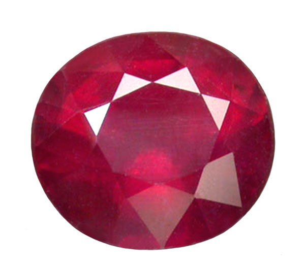 1.71 ct. Ruby, Glowing Rich Red Faceted Oval Gemstone