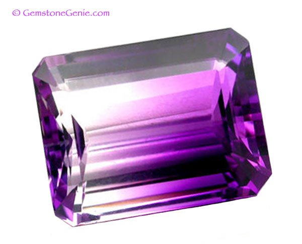 sold 27.85 ct. Ametrine, Bi-Color Purple/White, Flawless (IF), Natural Gemstone, Brazil