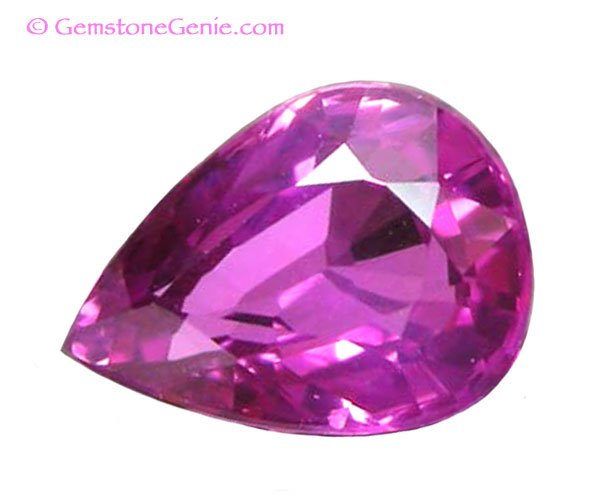 sold 1.09 ct. Sapphire, VVS, Intense Pink, Pear (Tear Drop) Faceted Natural Gemstone, Ceylon