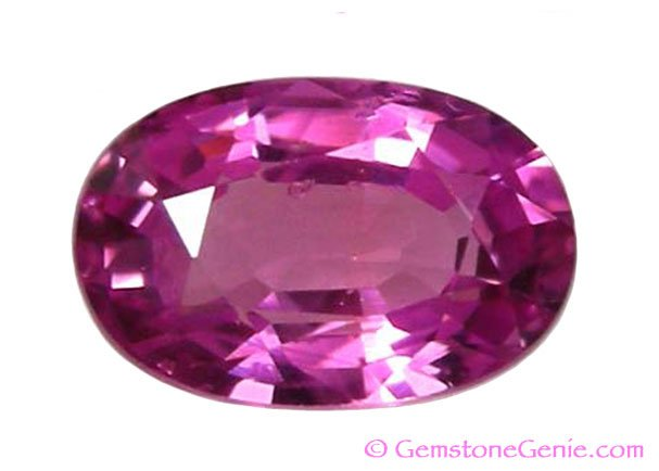 0.50 ct. Sapphire, Pink Violet, VS Oval Faceted Natural Gemstone,  Ceylon