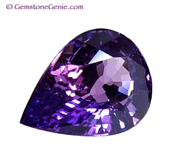 1.01 ct. Sapphire,  Unheated Violet/Pink, Pear (Tear Drop) Faceted Natural Gemstone, Ceylon