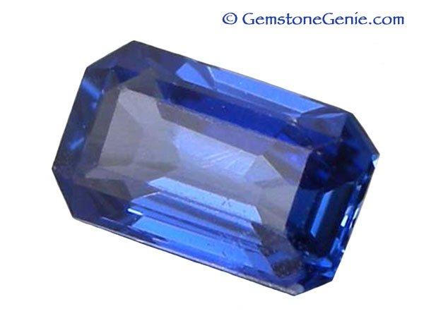 0.46 ct. Sapphire, Blue, Emerald Cut Gemstone, Ceylon