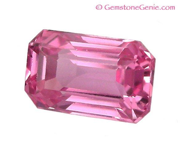 0.68 ct. Sapphire, Pink, VVS Emerald Cut Natural Gemstone, Ceylon