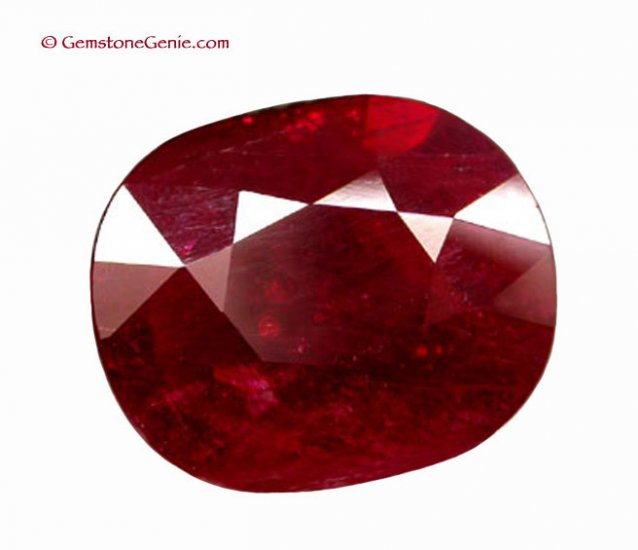 6.22 ct. Natural Ruby, Blood Red, Oval Faceted Gemstone