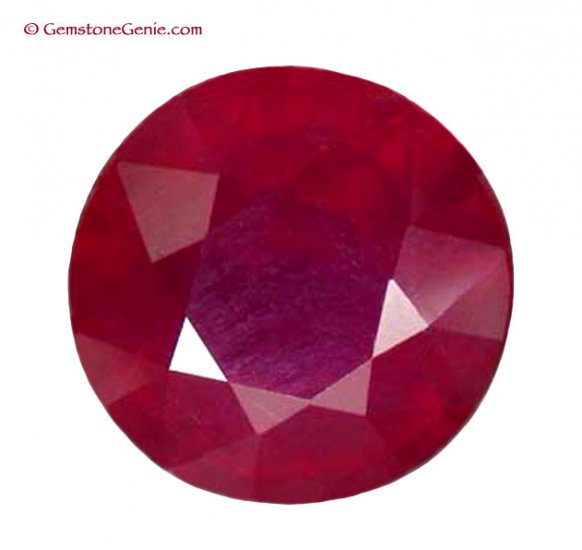 2.02 ct. Ruby, Glowing Rich Red, Round Oval Faceted Gem