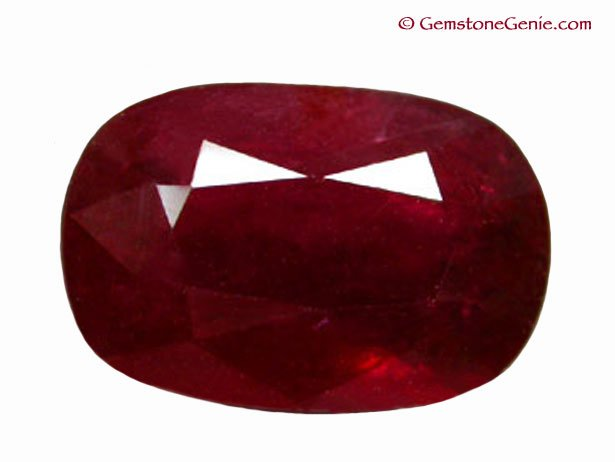 3.78 ct. Ruby, Glowing Blood Red, Oval Faceted Natural Gemstone