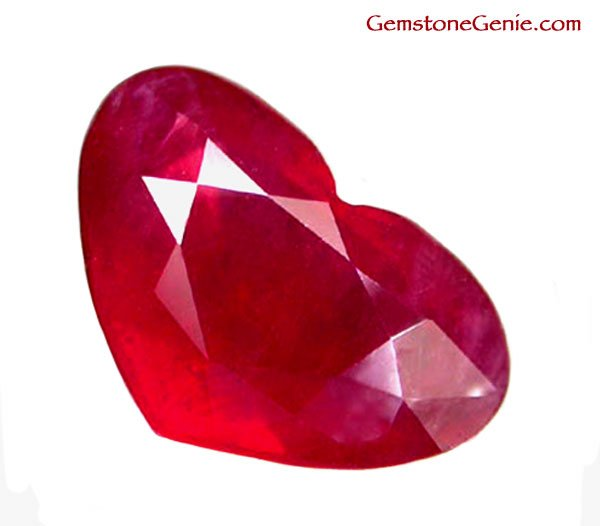 sold 2.95 ct. Ruby, Glowing Rich Red, Faceted Heart Gemstone