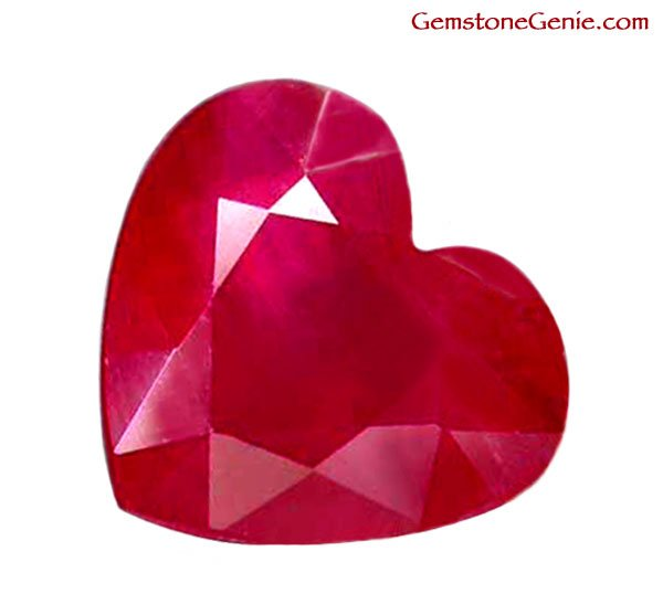 1.52 ct. Ruby, Rich Red, Heart Shaped Natural Gemstone