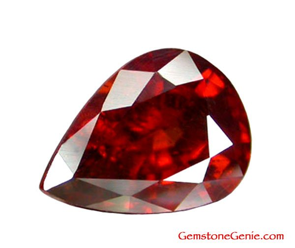 2.26 ct. Spessartite Garnet, Red Orange, Pear (Tear Drop) Natural Faceted Gemstone, Africa
