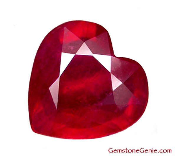 2.04 ct. Ruby, Glowing Rich Red, Heart Facet Natural Gemstone