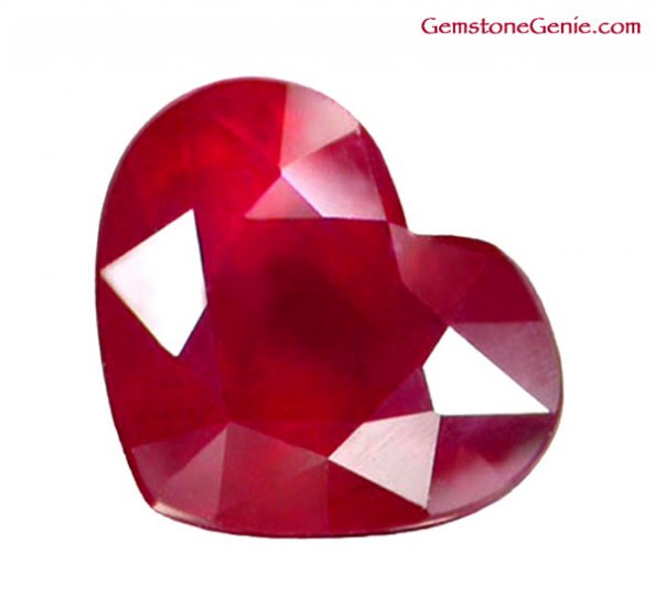 2.23 ct. Ruby, Rich Red, Heart Facet Natural Gemstone