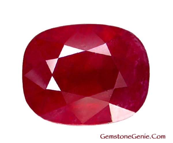 4.70 ct. Ruby, Glowing Rich Red, Oval Facet Natural Gem