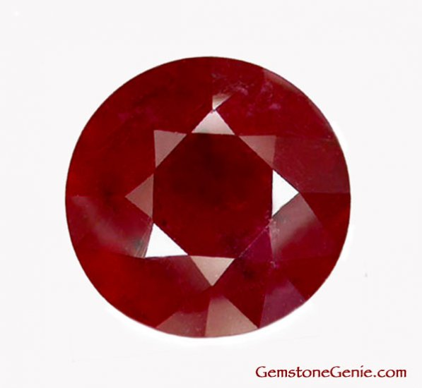 7.05 ct. Ruby, Blood Red, Round Facet, Natural Gemstone