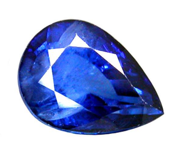 1.30 ct. Sapphire, 7x5 Rich Royal Blue, Pear Faceted Gem, Ceylon