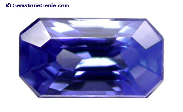 0.50 ct. Sapphire, Blue, Nearly Flawless (IF-VVS), Emerald Faceted Natural Gemstone, Ceylon