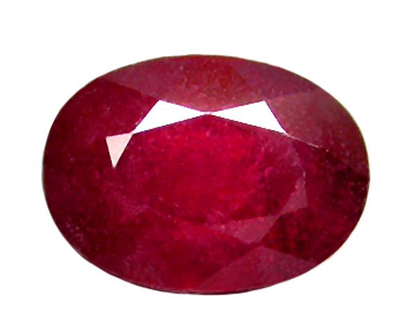 2.01 ct. Ruby, Glowing Rich Red, Oval Faceted Natural Gemstone