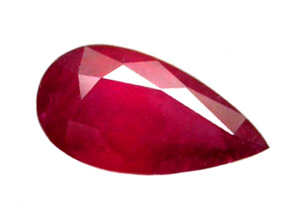 2.20 ct. Ruby, Pinkish Red Pear (Tear Drop) Faceted Natural Gemstone