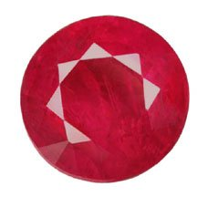 1.59 ct. Ruby, Glowing Red, Round Faceted Natural Gemstone
