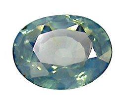 1.59 ct. Sapphire, Greenish Blue, VVS1 Oval Gem, Ceylon