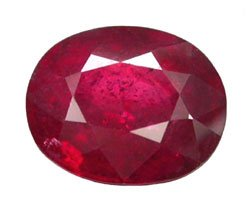 1.91 ct. Ruby, Glowing Rich Red, Oval Natural Gemstone