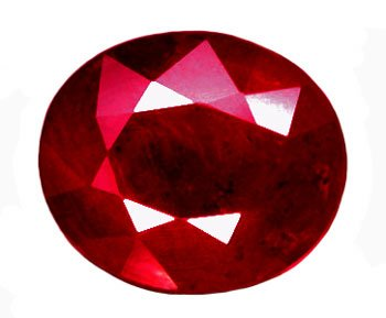 SOLD 1.30 ct. Ruby, Pigeon Blood Red, Oval Faceted Natural Gemstone, Madagascar