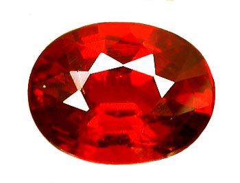 2.67 ct. Spessartite (Spessartine) Garnet, Orange Red, Oval Faceted Untreated Gemstone