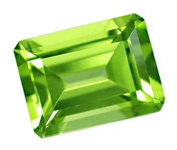 1.58 ct. Peridot, Yellow Green, IF-VVS1 Octagon Faceted Untreated Gemstone