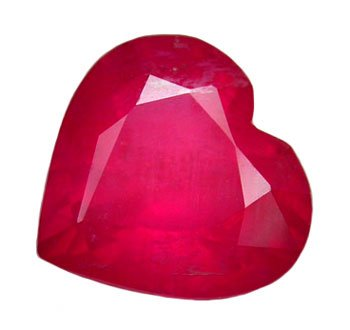 SOLD ? 2.09 ct. Ruby, Red, Heart Shaped/Faceted Natural Gemstone
