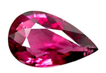 3.12 ct. Rhodolite Garnet, Pink Purple, IF-VVS Pear (Tear Drop) Faceted Gemstone